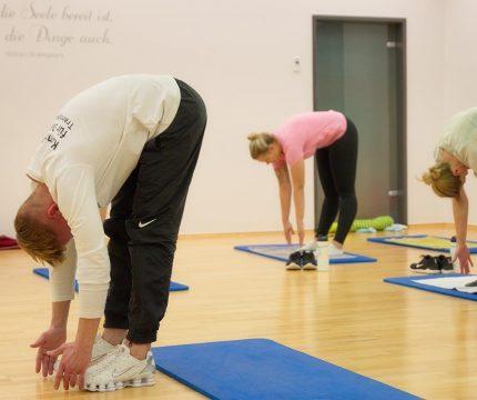 Galerie - Kursgruppe Gymnastik an der Matte